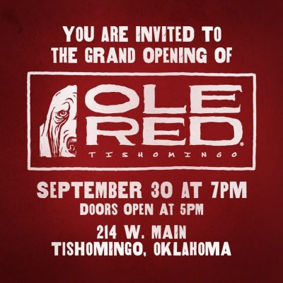 Ole Red Tishomingo Grand Opening